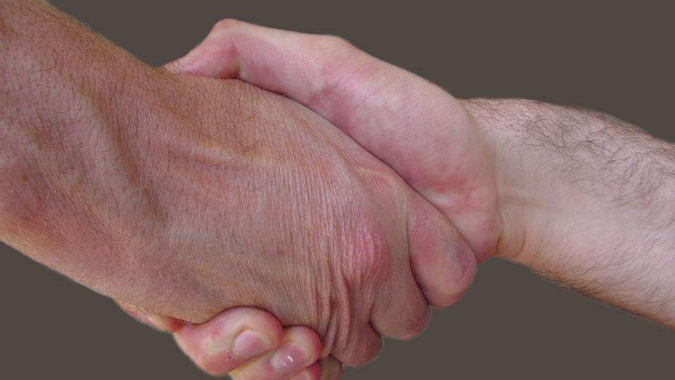 Handshake, Male, Partnership, Deal, Business, Welcome