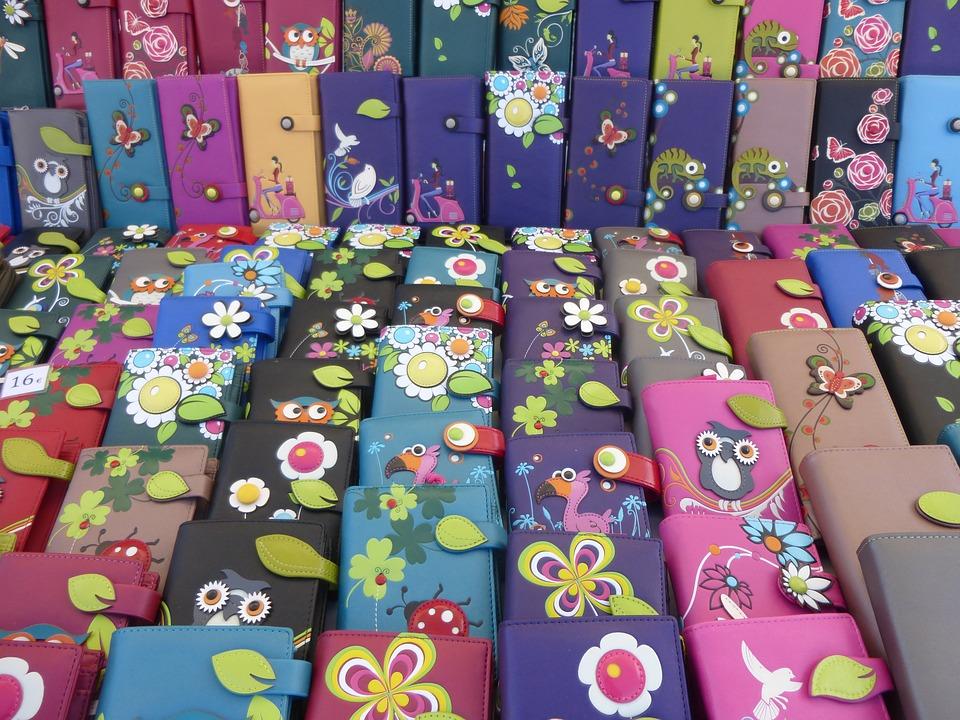 Colorful, Dealer, Market Stall, Color, Purse