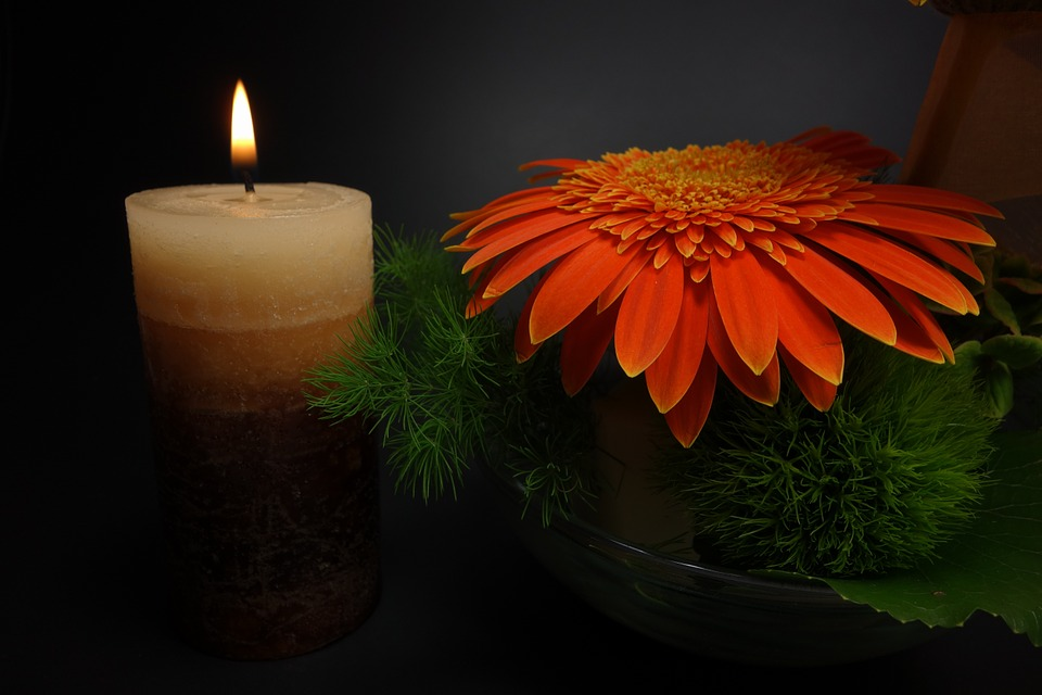 Grabschmuck, Candle, Flower, Mourning, Memory, Death