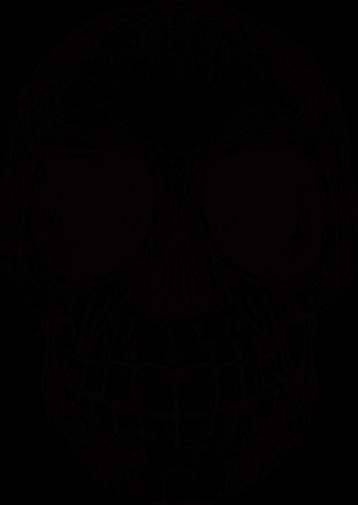Skull, Death, Drawing, Bone, Teeth, Smile, Dead