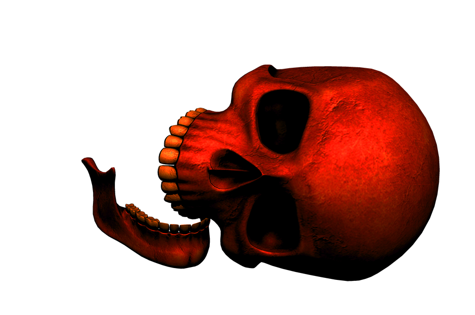 Skull, Red, Death, Gothic, Dark, Day Of The Dead