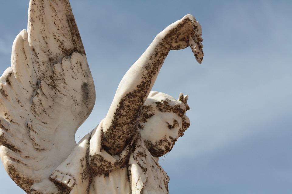 Angel, Death, Grave, Funeral, Statue, Religion
