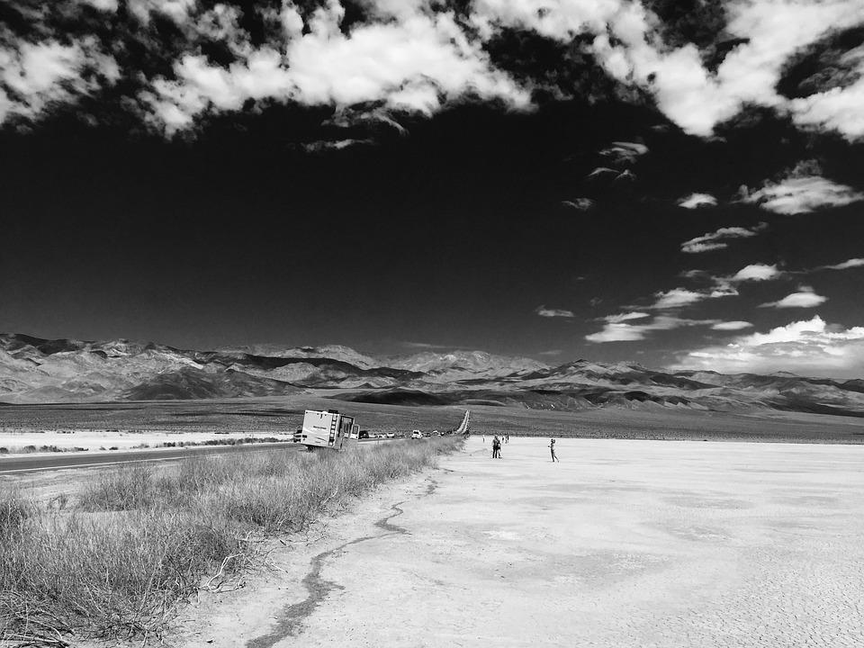 Death Valley, Usa, Landscape, Road, Desert