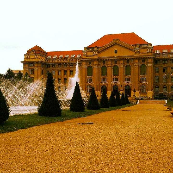 University, Debrecen Hungary, Fountain, Park