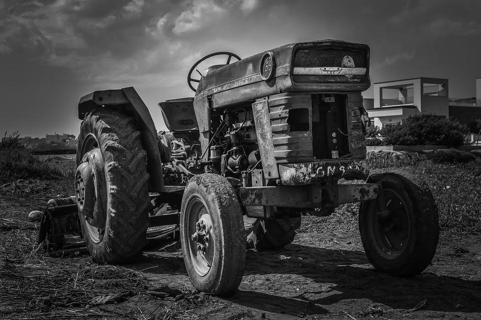 Tractor, Old, Rusty, Decay, Agriculture, Machine