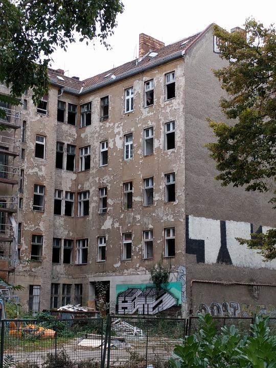 Ruin, Berlin, Bauruine, Building, Old, Facade, Decay
