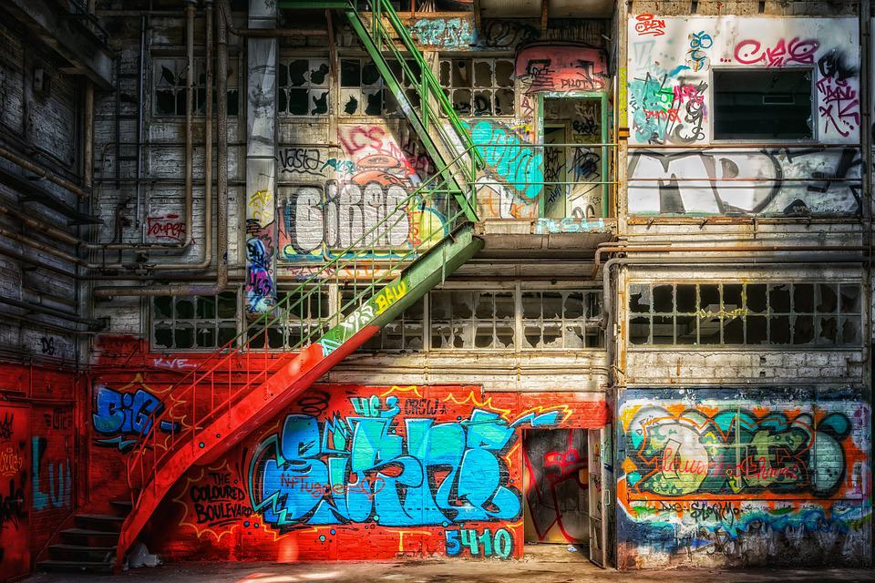 Lost Places, Wall, Graffiti, Pforphoto, Building, Decay
