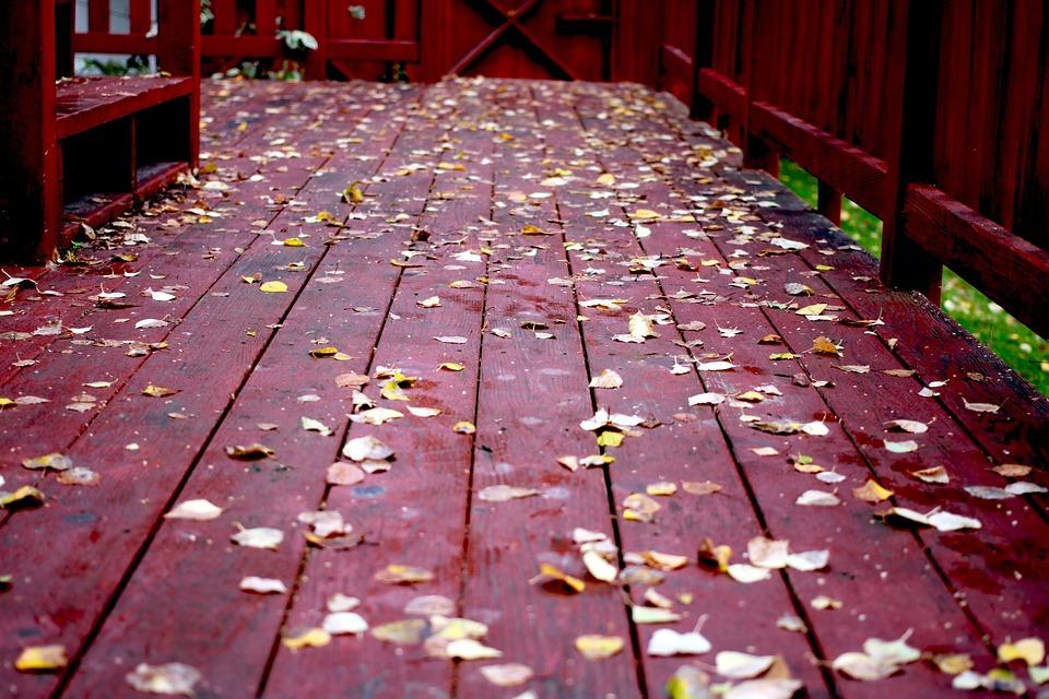 Fall, Deck, Wood, Leaves, Platform, Season, Outdoor