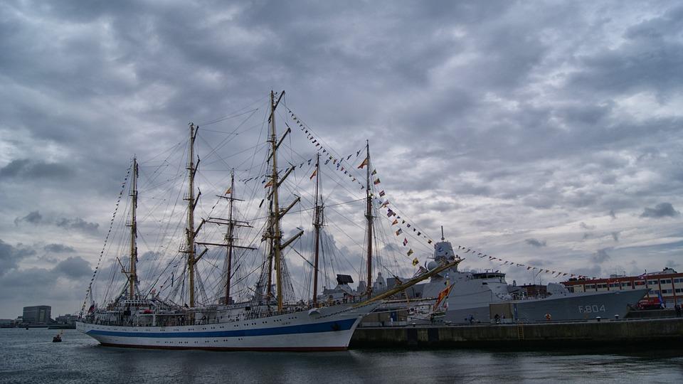 Ship, Army, Deck, Sailing, Boat, Rigging