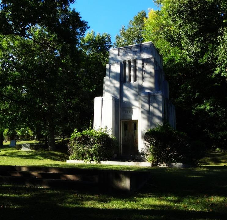 Cemetery, Art Deco, Mausoleum, Deco, Design, Old
