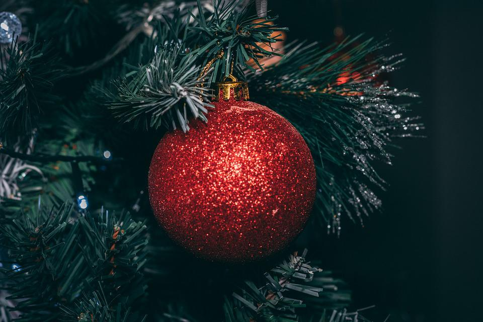 Christmas, Ball, Decoration, Red, Winter, Deco