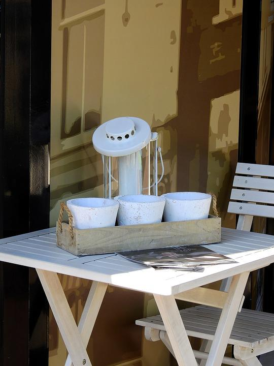 Table, Chair, Wood, Terrace, Deco, Decoration