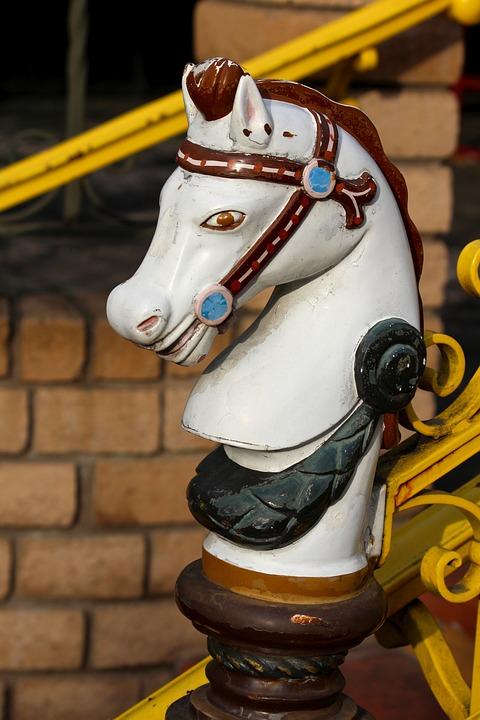 Horse Head, Figurine, Carousel Horse, Decor, End Cap