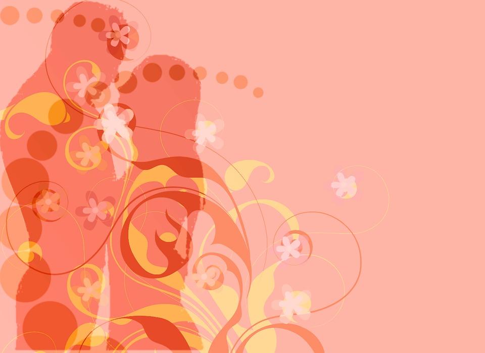 Background, Floral, Love, Pair, Man, Woman, Decor