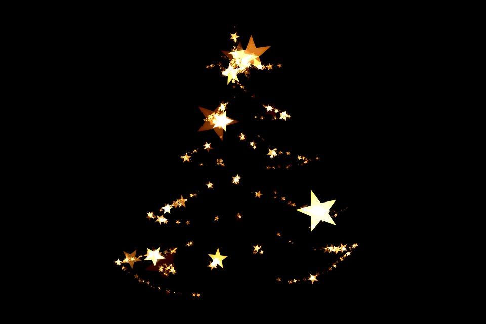 Christmas, Christmas Tree, Abstract, Decorated