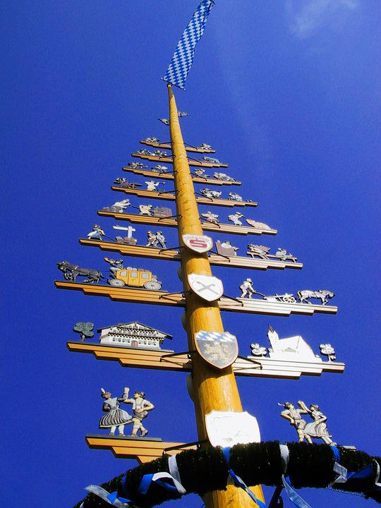 Tree, Bavaria, Birch, Custom, Customs, Wont, Decorated