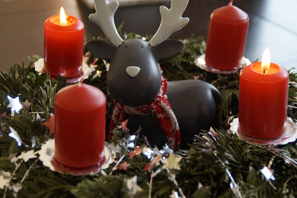 Advent, Advent Wreath, Wreath, Decorated