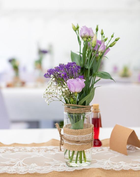 Deco, Wedding, Flower, Glass, Decoration, Background