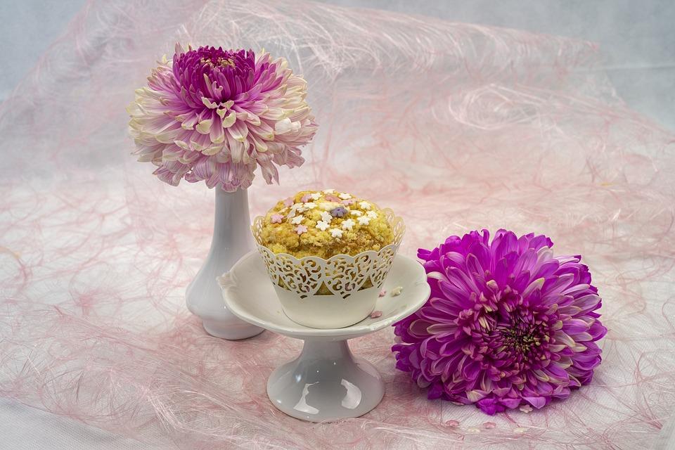 Cake, Chrysanthemums, Decoration, Delicious, Design