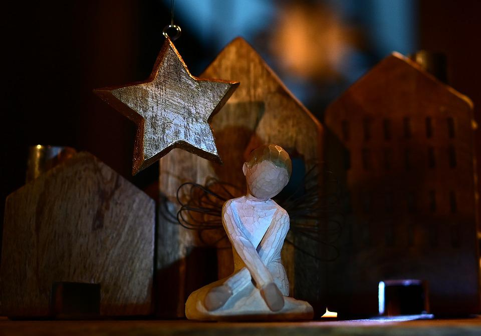 Christmas, Angel, Star, Decoration