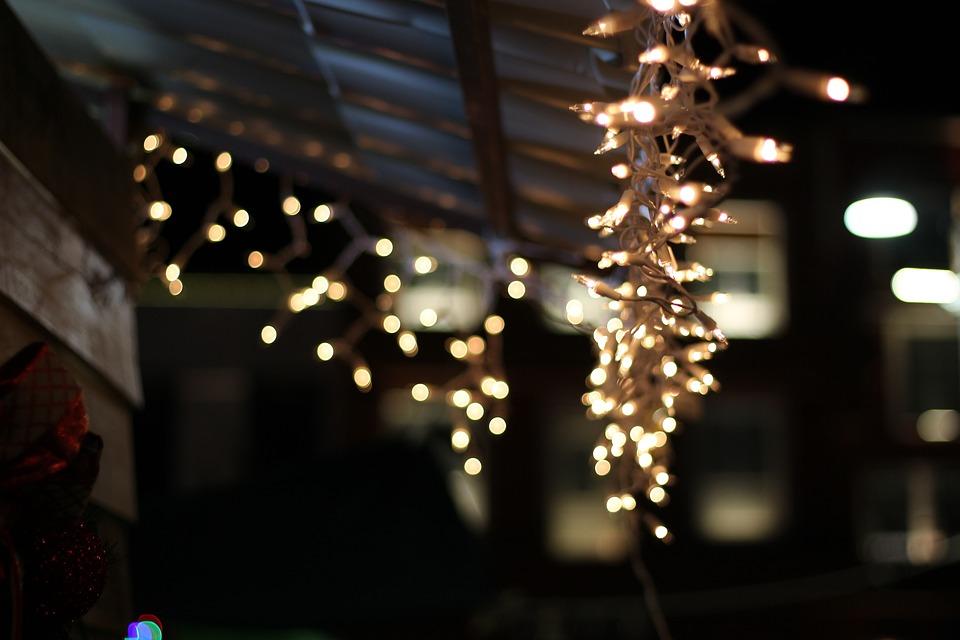 Christmas, Lights, Decoration, Night, Color