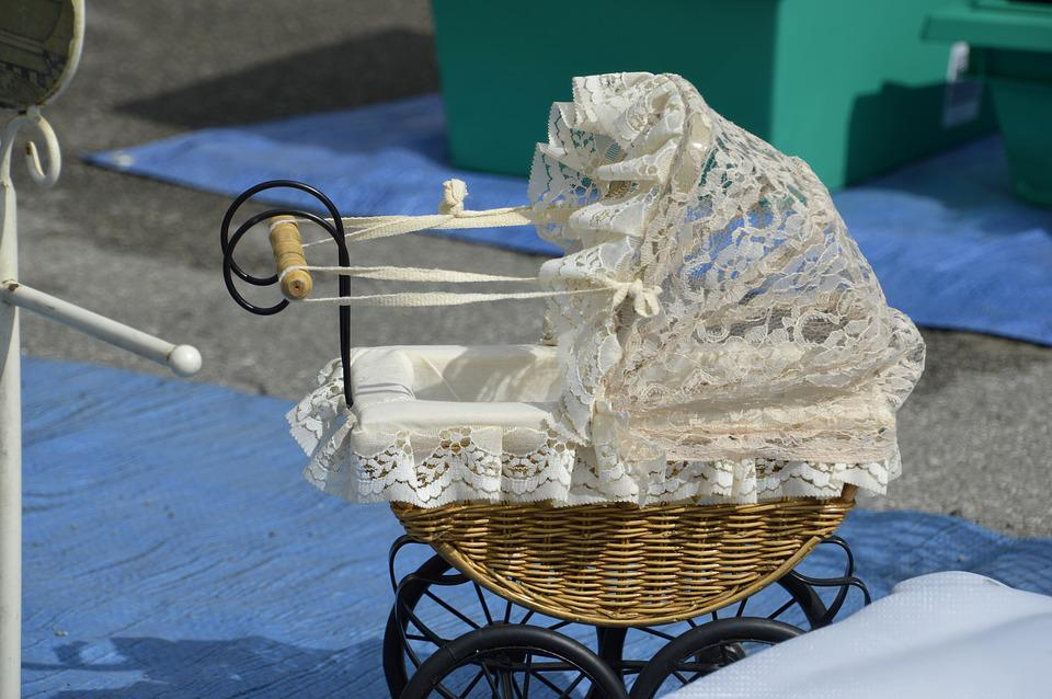Flea Market, Decoration, Object, Former, Cradle, Lace