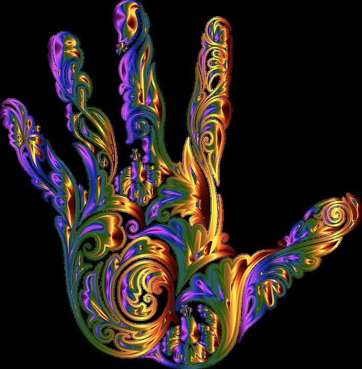 Hand, Fingers, Floral, Decorative, Decoration