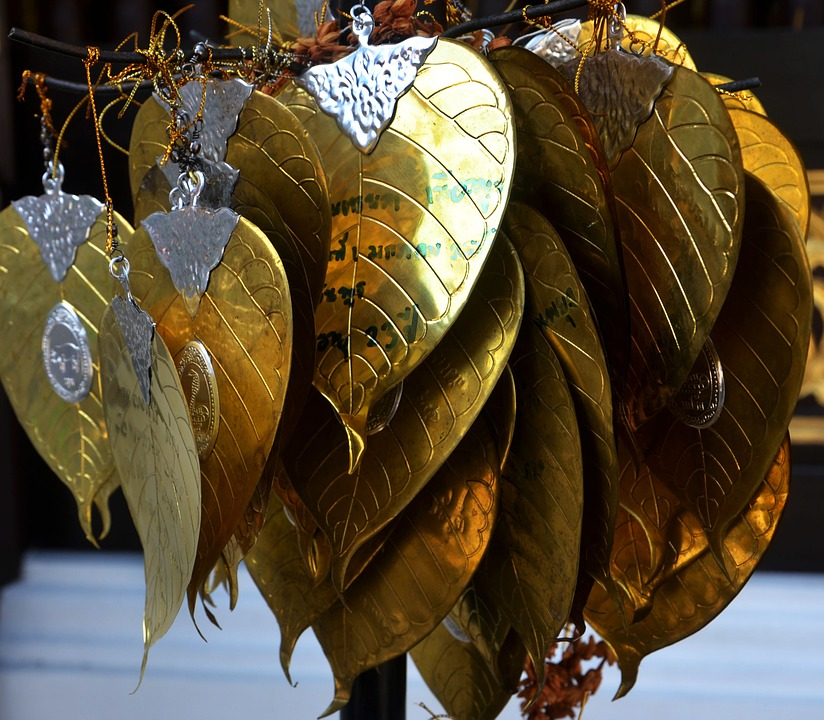 Gold, Leaves, Design, Thailand, Leaf, Decoration