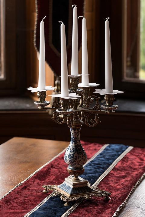 Candelabra, Candles, Decoration, Old, Antique, Elegant