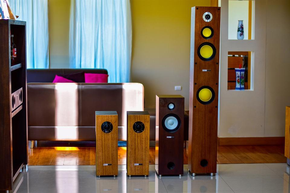 Speakers, Wood, Elegant, Decoration, Inside