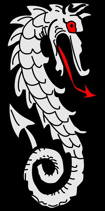 Dragon, Heraldic, Element, Emblem, Symbol, Decoration