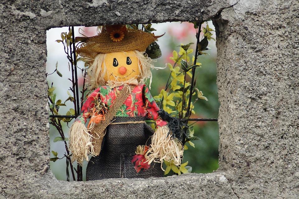 Straw Man, Woman Of Straw, Doll, Decoration, Figure