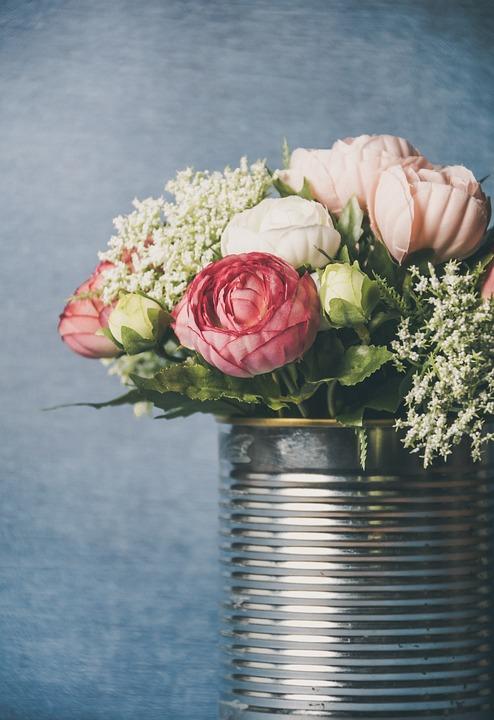 Flowers, Vase, Bouquet, Flower, Pink, Decoration, Deco