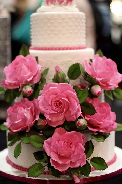 Wedding Cake, Decoration, Flowers, Ornament, Cake