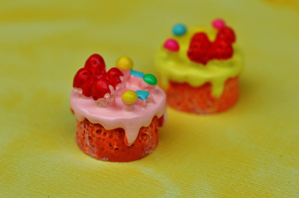Cupcake, Cake, Miniature, Ceramic, Funny, Decoration