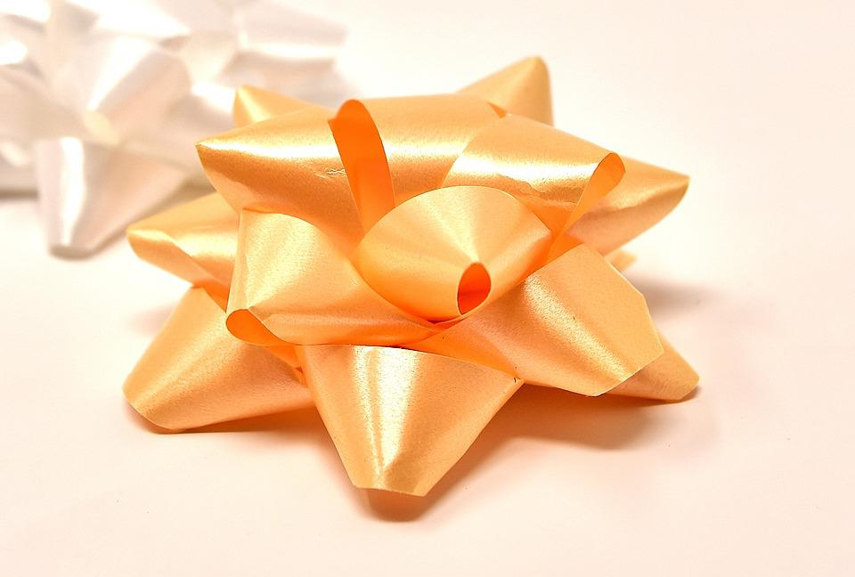 Geschenkschleife, Star, Decoration, Ornament, Give Away