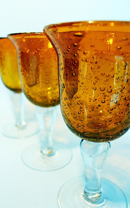 Glass Trophies, Blown, Stemmed Glasses, Decoration