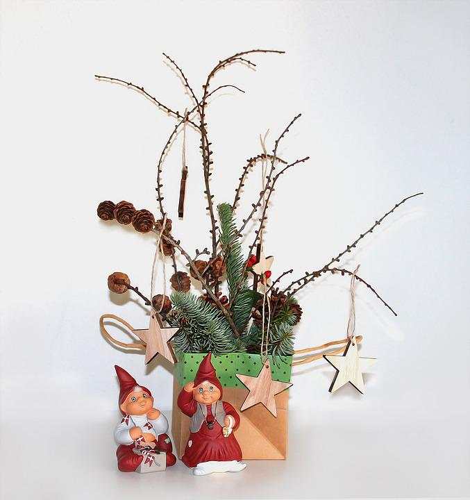 Christmas, Decoration, Gnomes, Spruce, Celebrations