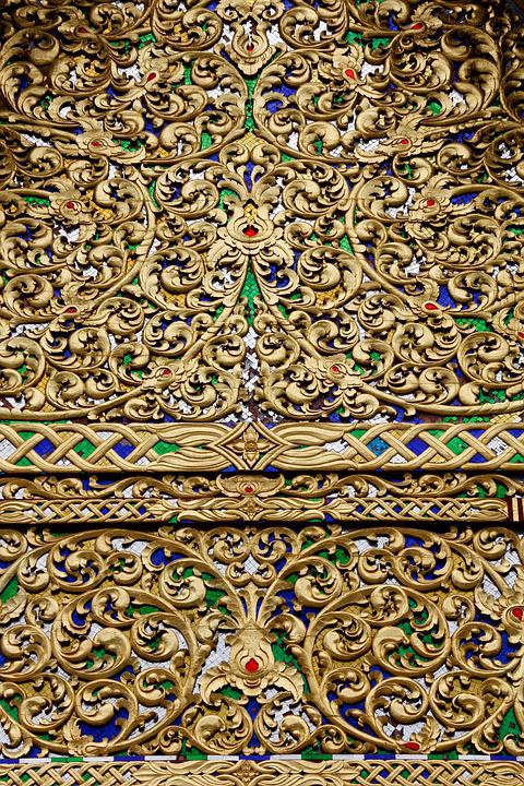 Gold, Pattern, Decoration, Golden, Background, Design