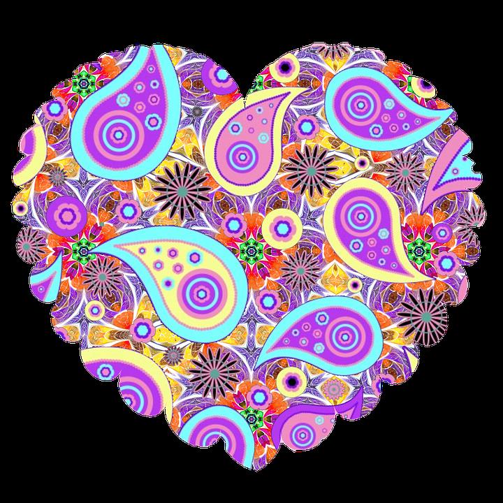 Heart, Purple, Valentine, Decoration, Pink, Design