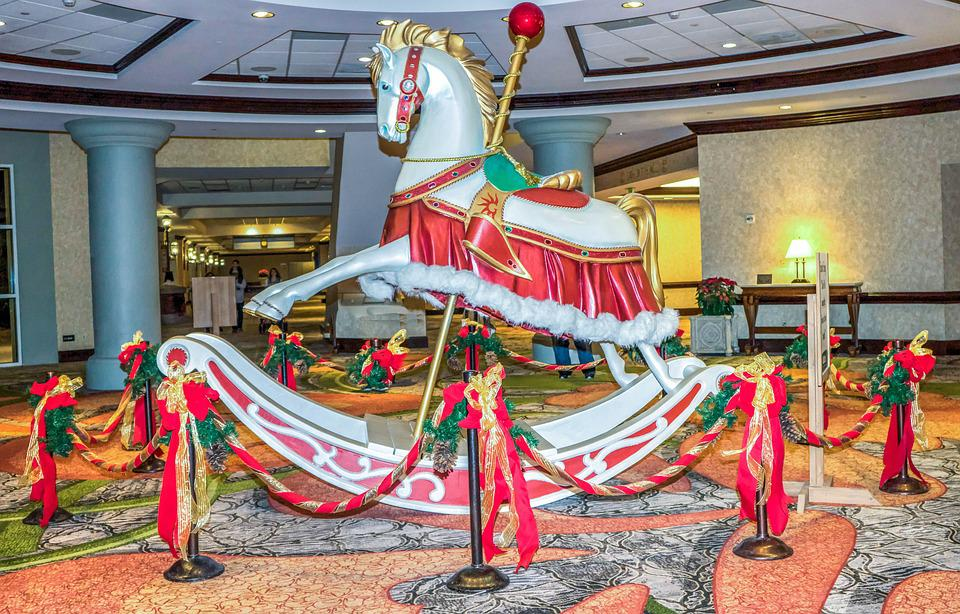 Gaylord Palms, Hotel, Carousel Hotel, Horse, Decoration