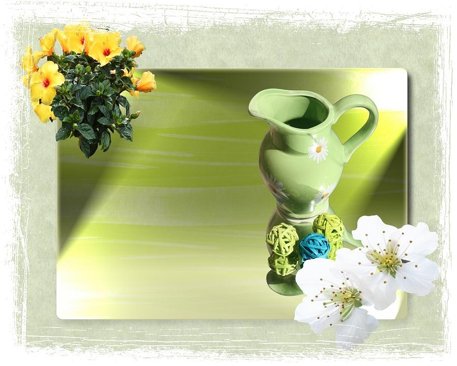 Easter, Krug, Decoration, Mirror, Mirroring, Light