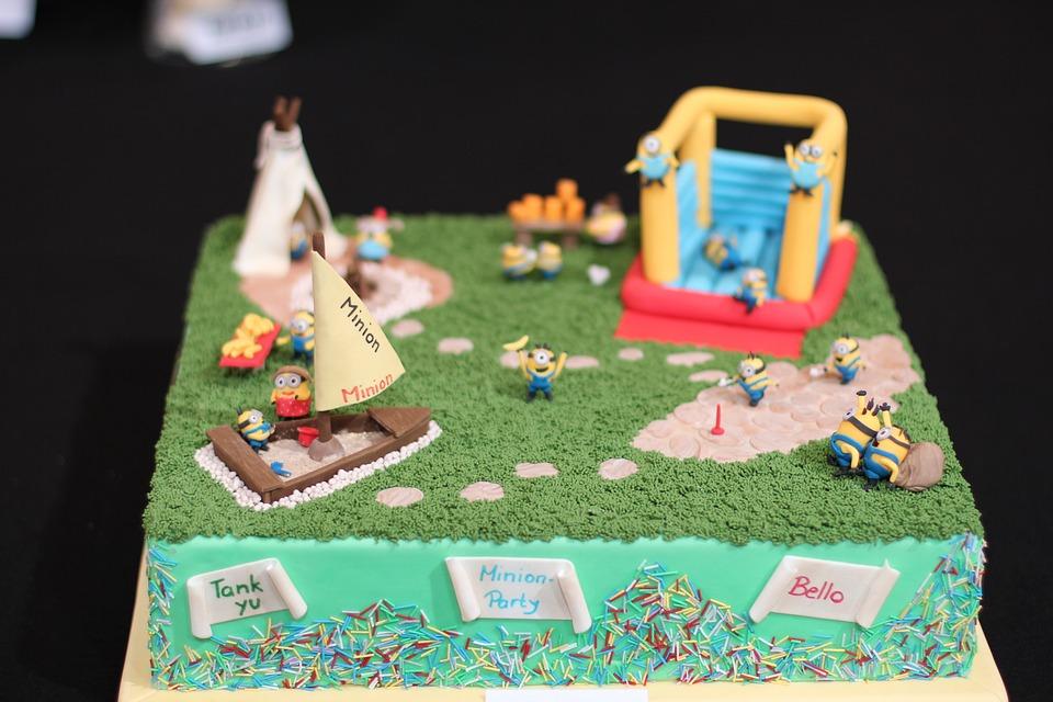 Minion, Cake, Thank You, Marzipan, Decoration