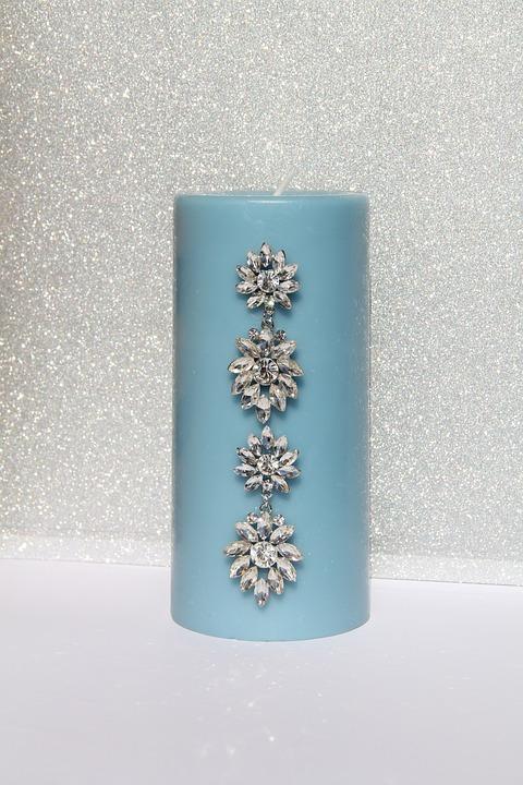 Candle, Wedding, Embellished, Decoration, Romantic