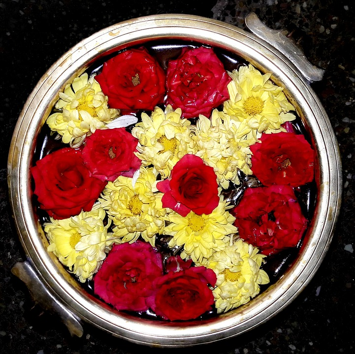 Bowl, Flowers, Roses, Decoration