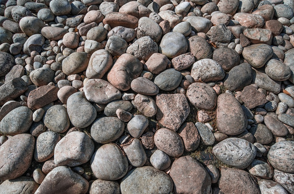 Rocks, Pebbles, Stone, Rough, Gray, Pattern, Decoration