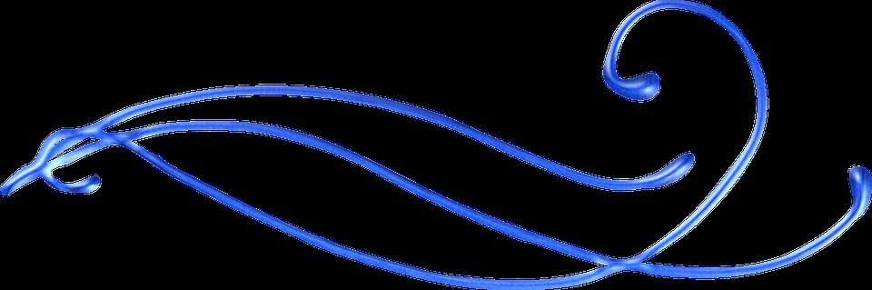 Swirl, Blue, Decoration, Border, Curly, Curves, Divider