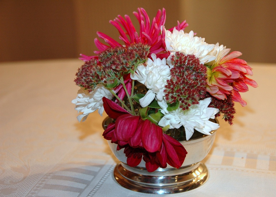 Bouquet, Round, Decoration Table, Colors