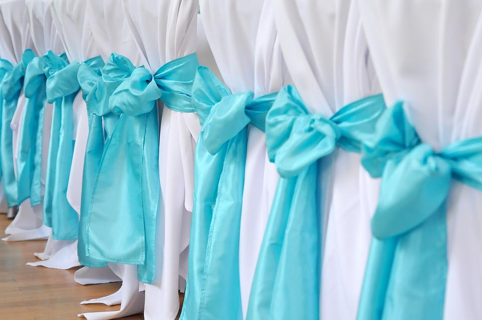 Chair, Turquoise, Wedding, Decoration
