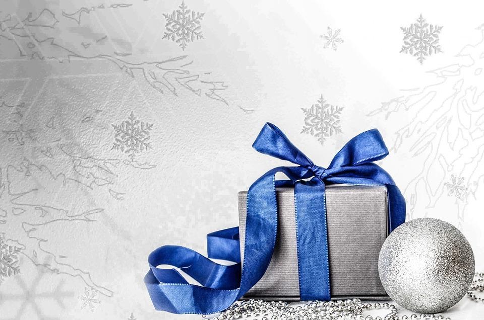 Decoration, White, Christmas Time, Christmas Card, Blue